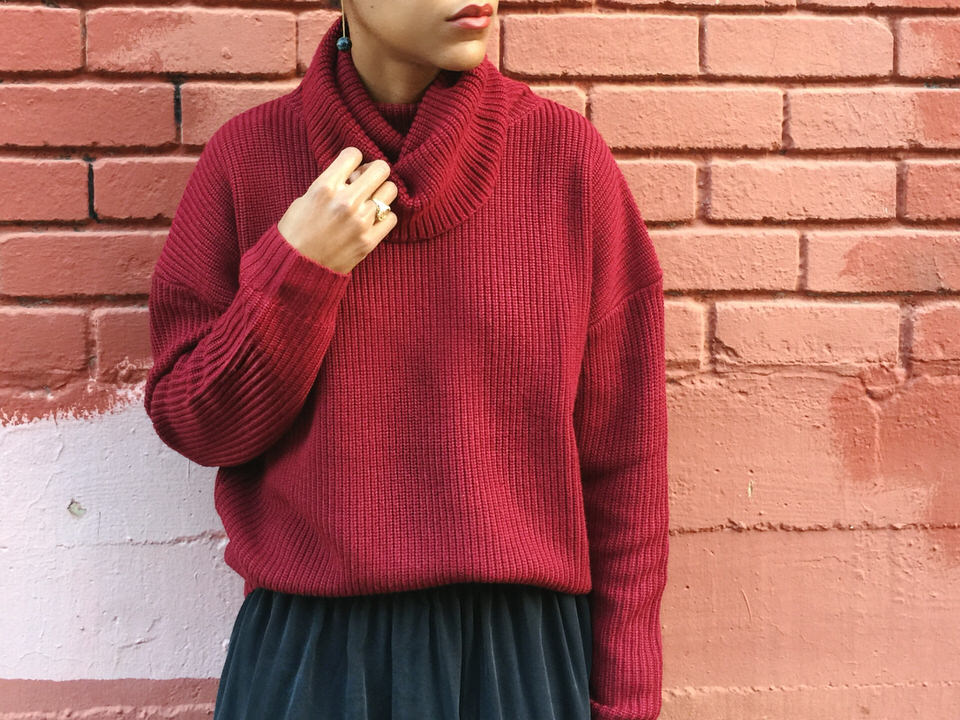 grana merino wool chunky turtleneck