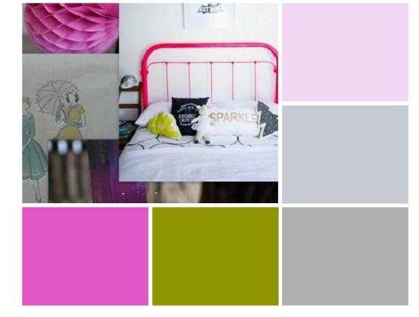 mergaites kambario spalvų paletė