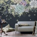 Tapetai su kaktusais ir sukulentais Tavo namų sienoms