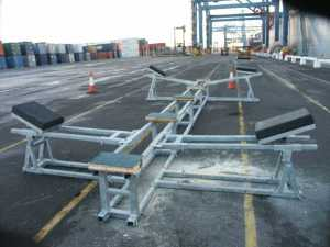 motorboat shipping cradle