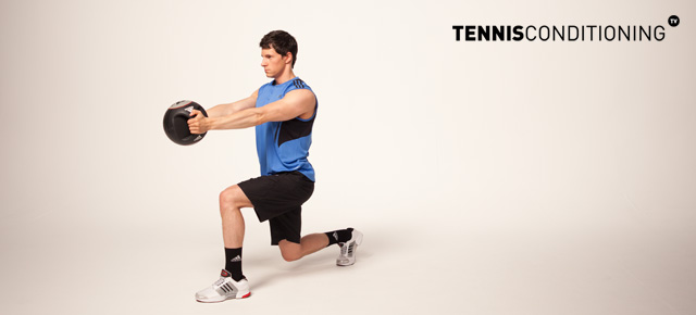 Lunge Overhead MB Pull Over