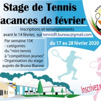 Stage de Tennis des vacances de février