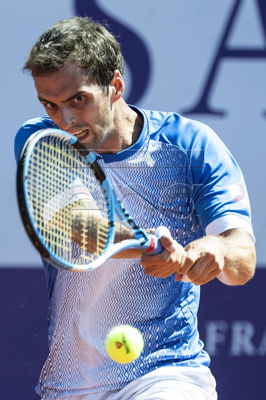 Albert Ramos-Vinolas of Spain in action during his first round match against Henri Laaksonen of Switzerland at the Swiss Open tennis tournament in Gstaad, Switzerland, 23 July 2019. EPA-EFE/PETER SCHNEIDER