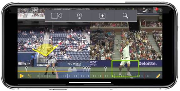 Dartfish tennis serve analysis tool