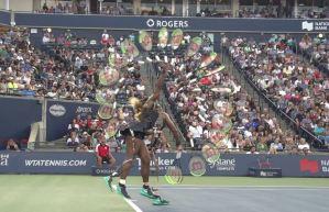 Serena Williams serve swing path