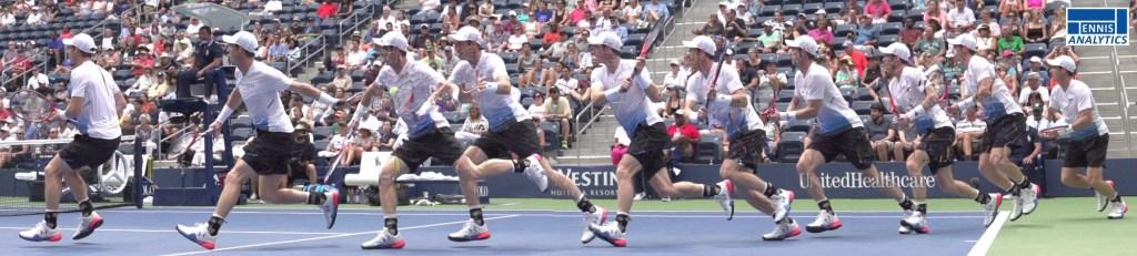 Andy Murray backhand approach shot