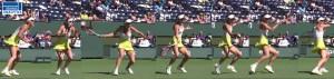 Caroline Wozniacki's forehand with key positions