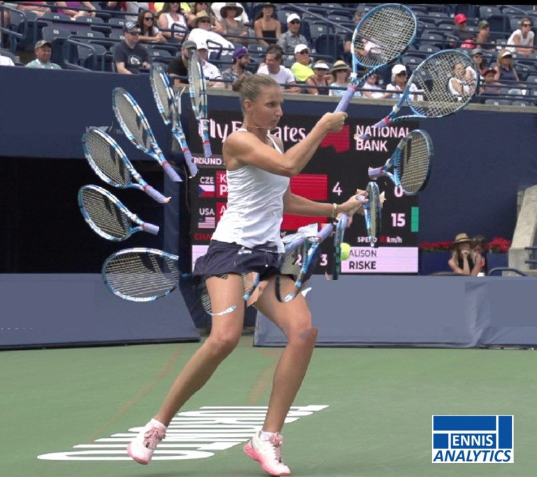 Karolina Pliskova's forehand groundstroke