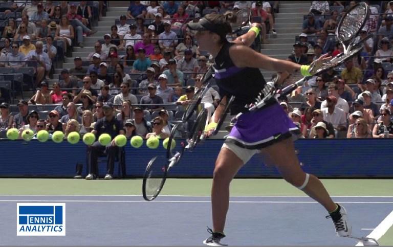 2019 US Open champion Bianca Andreescu backhand slice