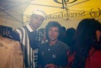 Con il vincitore di Wimbledon, il croato Goran Ivanisevic, a Roma