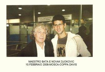 Con Novak Djokovic a Mosca