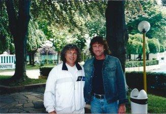 Il coach Bata e Paolo Cané a Torino nel 2001