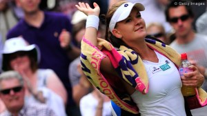Agnieszka Radwanska in Wimbledon final