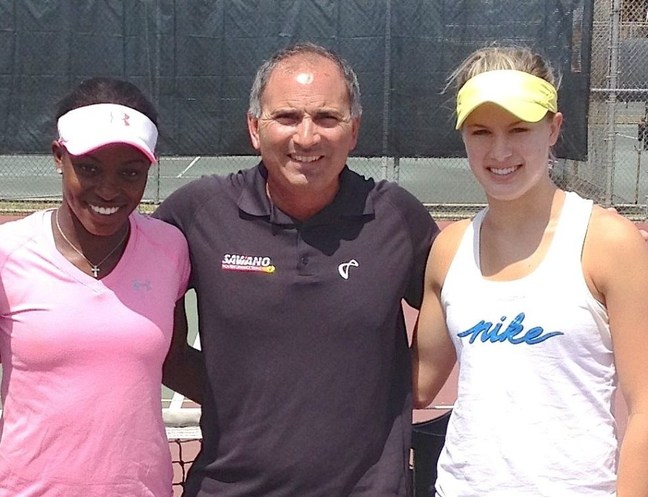 Sloane Stephens, Nick Saviano and Genie Bouchard