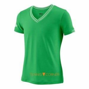 Wilson Girl Team V-Neck T-Shirt-0