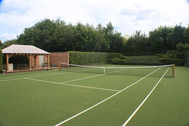 Savanna tennis court surface by En Tout Cas