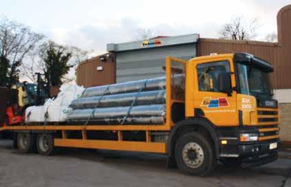 En Tout Cas lorry loaded with tennis court carpet