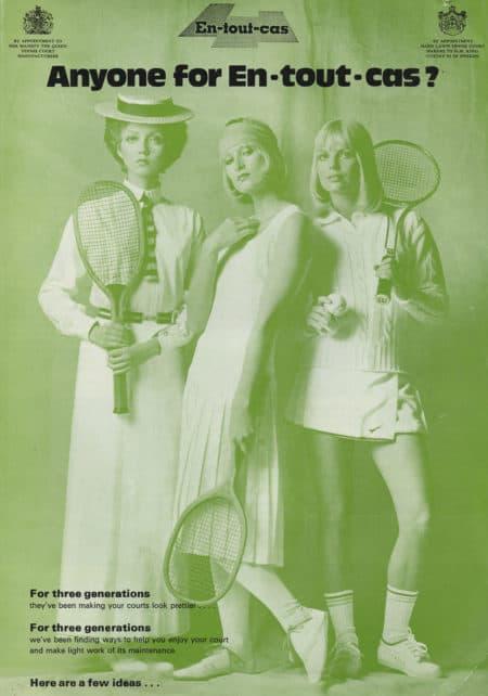 An En Tout Cas print advertisement from the 1970's
