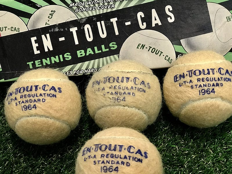 En Tout Cas championship tennis balls - still in great condition after more than 50 years!