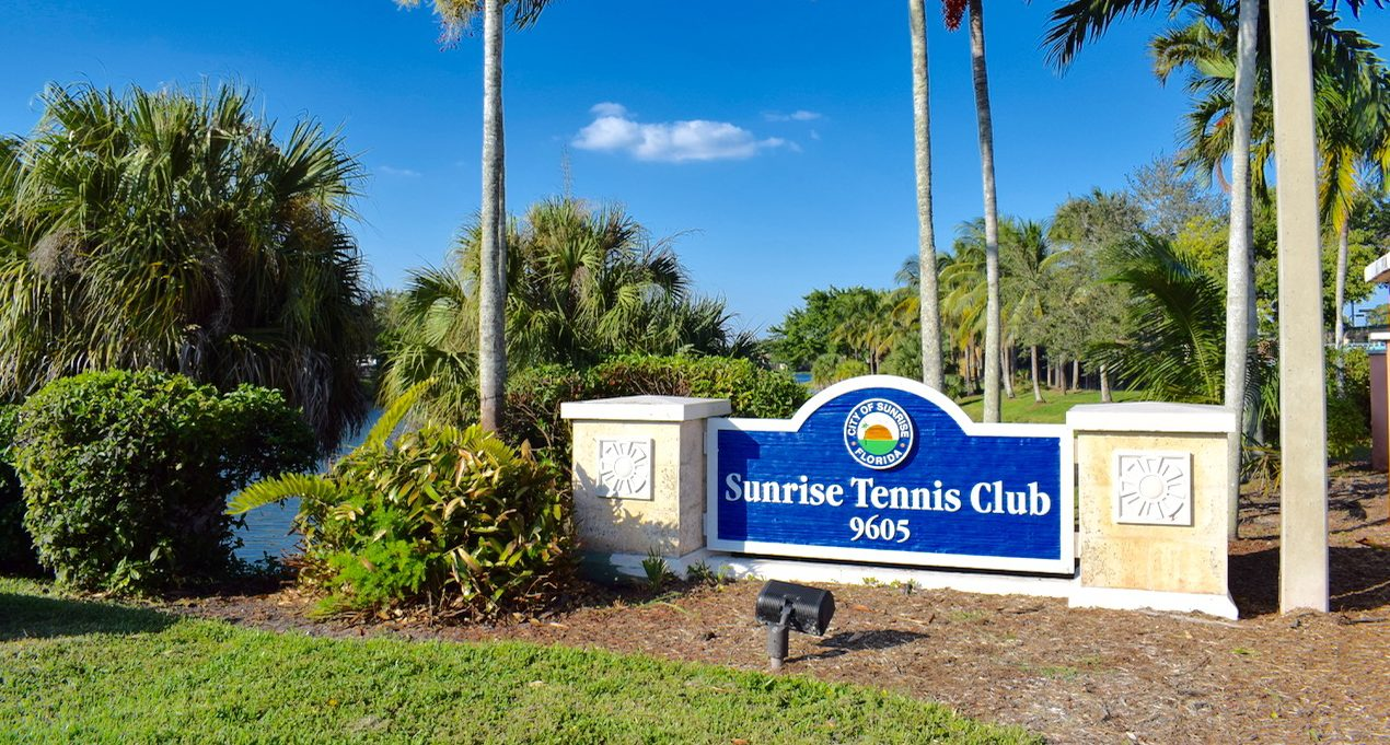 Sunrise Tennis Club // Swing Away at This South Florida Center