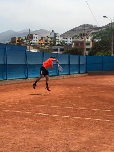 tennis serving motion