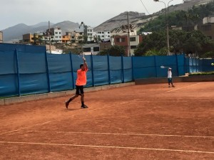 two-handed backhand groundstroke