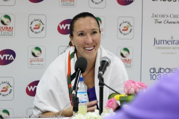 Jankovic smiles in press