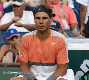 Nadal at changeover