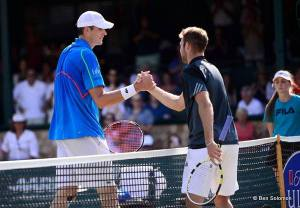 Isner and Sock photo by Ben Solomon