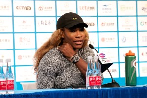Serena Williams in press