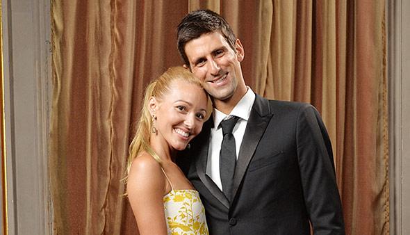Jelena and Novak Djokovic photo from www.NovakDjokovic.com