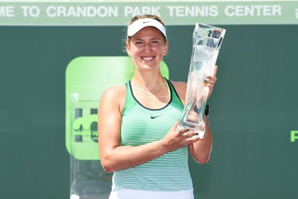 Azarenka with trophy