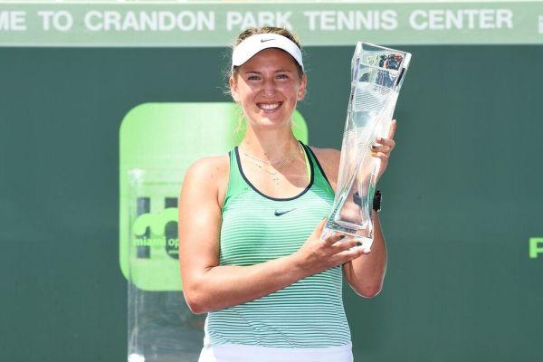 Azarenka with trophy
