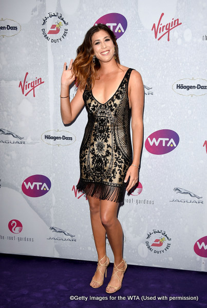 LONDON, ENGLAND - JUNE 23:  Garbine Muguruza attends the annual WTA Pre-Wimbledon Party presented by Dubai Duty Free at the Kensington Roof Gardens on June 23, 2016 in London, England.  (Photo by Stuart C. Wilson/Getty Images for WTA Tour)