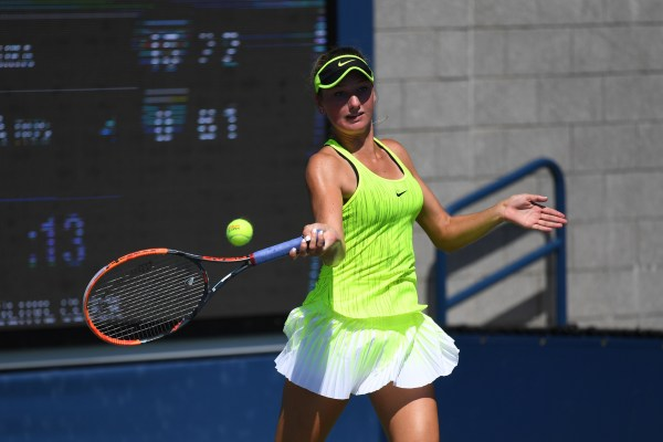 September 7, 2016 - Carson Branstine in action against Olesya Pervushina during the 2016 US Open at the USTA Billie Jean King National Tennis Center in Flushing, NY. Photo by the USTA.