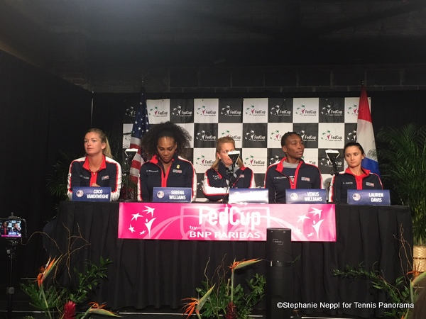 US Fed Cup Team news conference