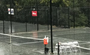 Rainy day at Newk's Tennis Fantasies week