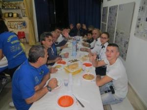 Cena in sede assieme agli amici di Bagnolo San Vito