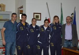 Foto di gruppo col sindaco di Norbello Antonio PInna