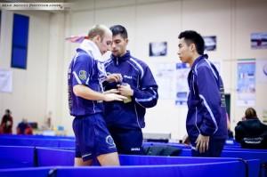 Luigi Rocca, coach Mauro Locci e Lu Leyi (Max Mocci Fotografia)
