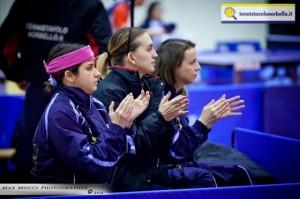 Conciauro, Stefanova e il tecnico Di Meo applaudono a Angeliki Papadaki (Max Mocci Fotografia)