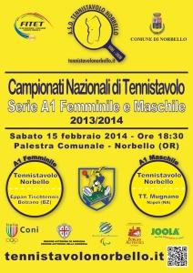 Locandina A1 Fem. & A1 Masch. - Tennistavolo Norbello 15-02-2014 HD