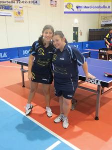 Eleonora Trudu e Silvia Deligia in missione a Cuneo pe rla A2 femminile