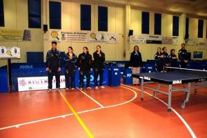 la presentazione delle due squadre (Foto Massimo Monni)