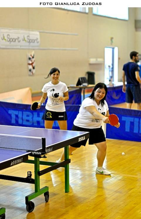 Eleonora Trudu e Silvia Deligia vittoriose nel doppio a OlimpiKa 2014 (Foto Gianluca Zuddas)