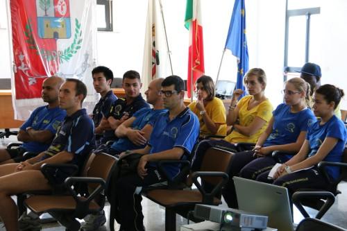 Gli atleti della A1 maschile e femminile (Foto Gianluca Piu)