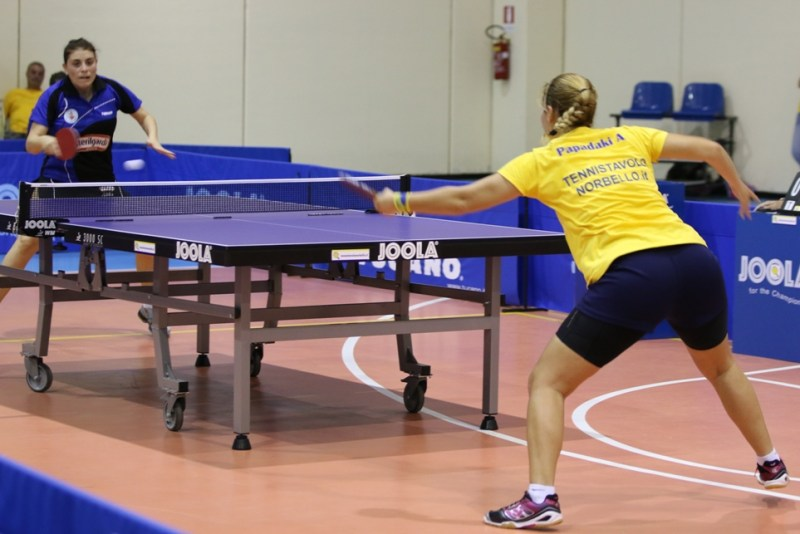 Una fase del match tra Papadaki e e la romena (Foto Gianluca Piu)