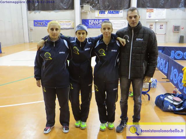 Foto di gruppo della A1 femminile con Simone Carrucciu