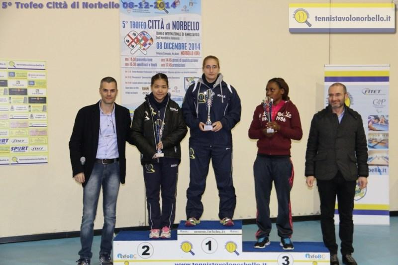 Il presidente Carrucciu, il sindaco di Norbello Pinna e il podio femminile (Foto Gianluca Piu)