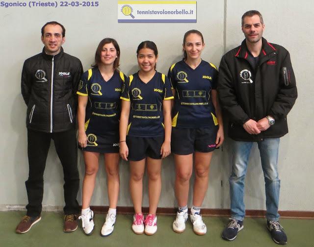 La delegazione del Tennistavolo Norbello a Trieste